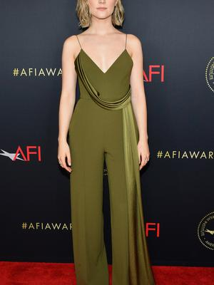 Saoirse Ronan attends the 20th Annual AFI Awards at Four Seasons Hotel Los Angeles at Beverly Hills on January 03, 2020 in Los Angeles, California. (Photo by Amy Sussman/Getty Images for AFI)
