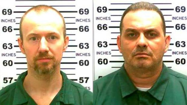 Convicted murderers David Sweat (L) and Richard Matt escaped from the maximum security prison using power tools and going through a manhole. Photo: Getty Images