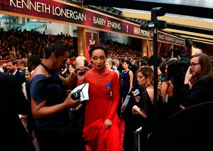 "Nominee for Best Actress ""Loving"" Ruth Negga arrives on the red carpet for the 89th Oscars on February 26, 2017"