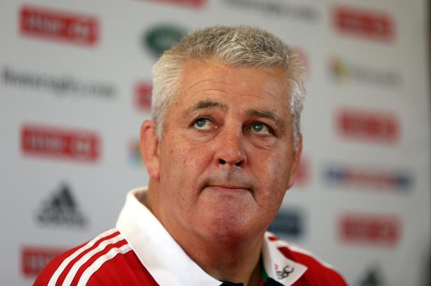 Warren Gatland, the Lions head coach looks on during the British and Irish Lions team annoucement in Hong Kong. (Photo by David Rogers/Getty Images)
