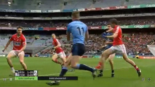 Diarmuid Connolly struck by the elbow of Jamie O'Sullivan