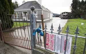 Court order: The home near Strokestown, Co Roscommon, which KBC Bank has repossessed
