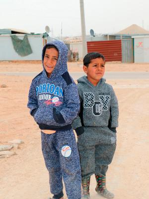 Syrian children living in the Zaatari camp. Photo: PA