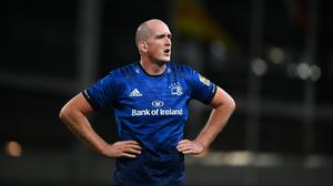 Devin Toner is just behind Gordon D'Arcy on the list of most Leinster appearances. Photo by David Fitzgerald/Sportsfile