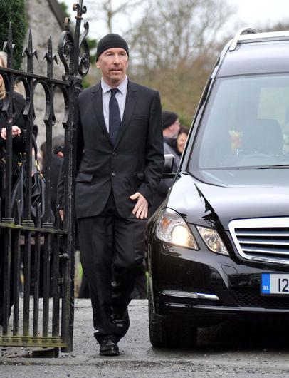 Edge at the funeral