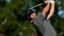 Rory McIlroy tees off on the 11th hole during the second round of the Charles Schwab Challenge at the Colonial Country Club in Fort Worth, Texas on Friday. (AP Photo/David J. Phillip)