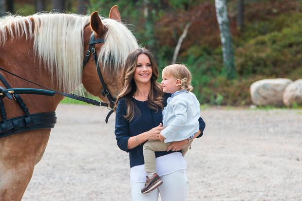 Princess Sofia and Prince Alexander of Sweden attend the inauguration of Prince Alexander's viewpoint at the Nynas Nature Reserve on August 23, 2018 in Gisesjon, Sweden. (Photo by Michael Campanella/Getty Images)