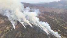 Destruction: Fires in the Wicklow Mountains over the Easter weekend photographed by the Air Corps