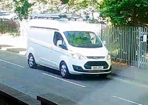 ndated handout image issued by West Mercia Police of of a van sought by police as part of inquiries into eggs being thrown at a baby in Worcester. West Mercia Police/PA Wire