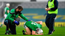Gillane spent the night of the semi-final in the Mater Hospital after feeling unwell in the immediate aftermath but was released the following morning with bruising around the rib area. Photo: Piaras Ó Mídheach/Sportsfile