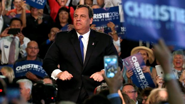 Republican U.S. presidential candidate and New Jersey Governor Chris Christie