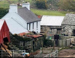The McCarthy family farm  at Foilnamuck in West Cork yesterday. Pic Steve Humphreys 6th March 2013.