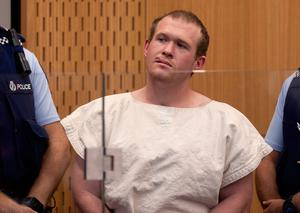 File photo of Brenton Tarrant, the man charged in relation to the Christchurch mosque shootings, at Christchurch District Court, in Christchurch, New Zealand. (Mark Mitchell/Pool Photo via AP, File)
