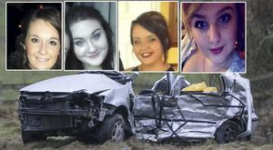 Victims of Athy crash (left to right) Niamh Doyle, Aisling Middleton, Gemma Nolan, and Chermaine Carroll