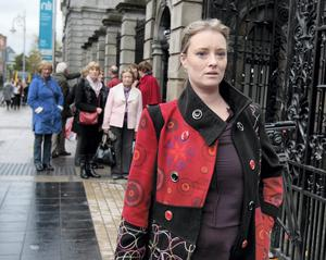 Mairia Cahill arriving at Leinster House. Photo: Tom Burke