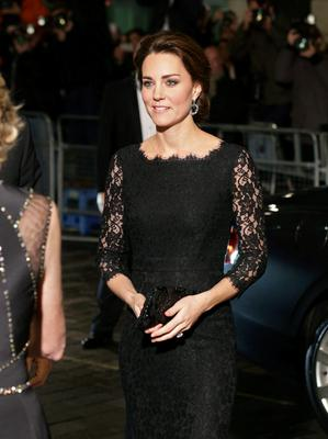 Catherine, Duchess of Cambridge arrives for The Royal Variety Performance at the London Palladium