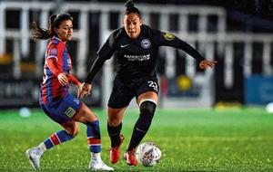 Rianna Jarrett in action for Brighton against Crystal Palace. Photo: Getty images.