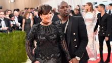 "Kris Jenner (L) and Corey Gamble attend the ""Manus x Machina: Fashion In An Age Of Technology"" Costume Institute Gala at Metropolitan Museum of Art on May 2, 2016 in New York City.  (Photo by Mike Coppola/Getty Images for People.com)"