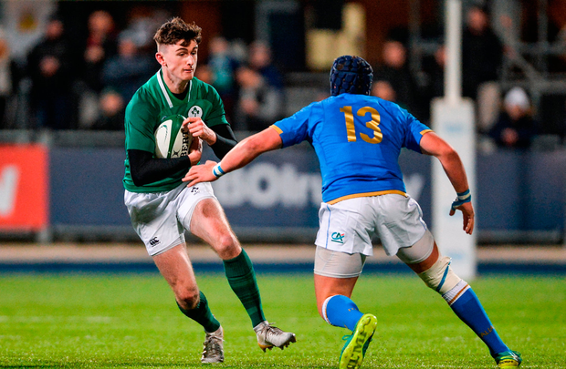James McCarthy in action against Italy's Michelangelo Biondelli. Photo: Sportsfile