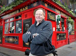 """Quiet times: Tom Cleary, who runs the Temple Bar pub, says """"you have to make it attractive for people to return"""". PHOTO: Frank McGrath"""