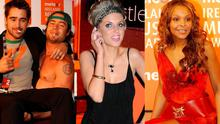 (L to R) Colin Farrell and Bam Margera; Amy Huberman and Samantha Mumba
