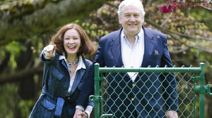 Barbara Amiel and husband Conrad Black arrive home after his release from prison in May 2012