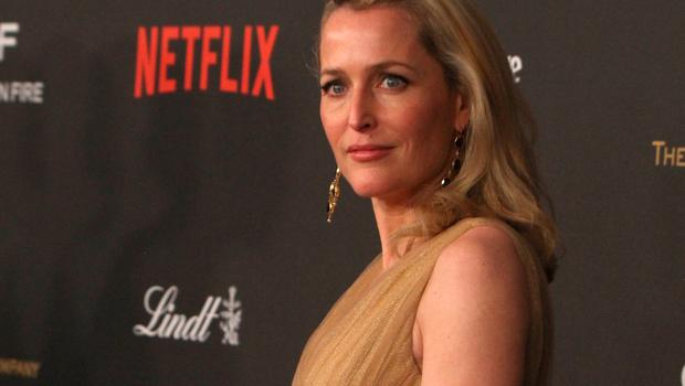 Actress Gillian Anderson attends the 2016 Weinstein Company and Netflix Golden Globe Awards After Party at The Beverly Hilton on January 10, 2016 in Los Angeles, California.  (Photo by Randy Shropshire/Getty Images)