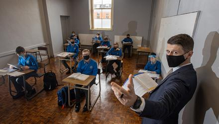 Challenges: Seán Stack, principal of St Joseph's CBS Secondary School in Fairview, is still waiting for 150 new desks he ordered in July. Photo: Mark Condren