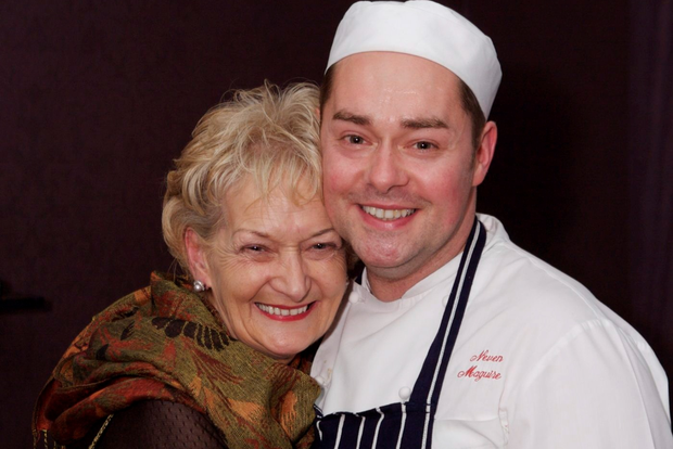 Neven with his late mother, Vera Maguire, whom he credits with teaching him to cook. Photo. Colm Connaughton.