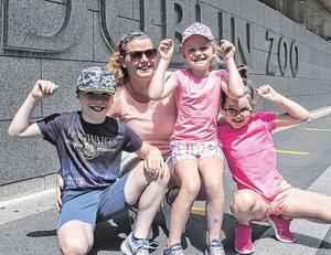 Lynda Brady from Clane with her children Nathan (9), Addison (8) and Lillyparker (6)