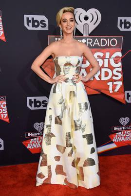 Katy Perry arrives at the iHeartRadio Music Awards at the Forum on Sunday, March 5, 2017, in Inglewood, Calif. (Photo by Jordan Strauss/Invision/AP)