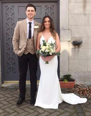 Claire Sullivan on the day of her wedding