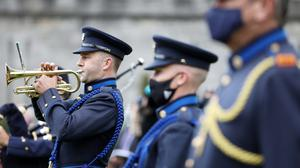 Members of the Garda band playing at the Annual Garda Memorial Day for members of An Garda Síochána. Photograph: Leah Farrell / RollingNews.ie