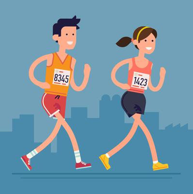 If you're starting off and are older, or overweight, it's recommended that you slowly build up your pace. Be sure to observe social distancing at all times