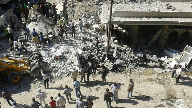 On 04 June, a missile strike hit a town centre in Idlib Governorate, northern Syria, and between 3pm and 7pm 130 wounded patients arrived at the small 12-bed facility.  (Photo: MSF)