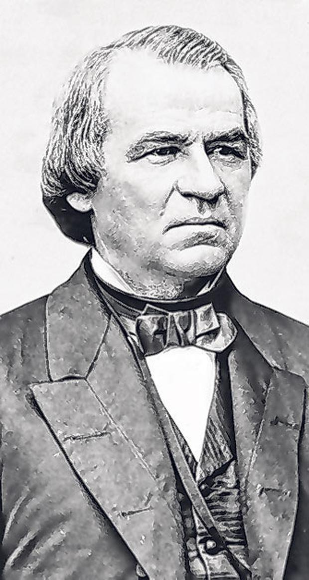 History: Donald Trump will be only the third American leader, after Andrew Johnson (pictured) and Bill Clinton, to have faced an impeachment trial.
