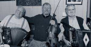 Local Legends Timmy Connors, Raymond O'Sullivan and Jackie Daly who will all be performing at the Scullys Fest Online concert
