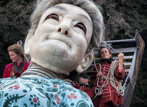'The Giant's Journey' is the headline event of this year's Royal de Luxe. Photo: Alan Place/FusionShooters.