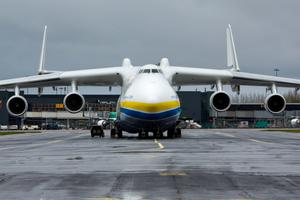 The worlds largest  jet has made a fuelling stop at Shannon Airport. Pic Sean Curtin Photo.