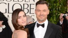 Megan Fox (L) and actor Brian Austin Green arrive at the 70th Annual Golden Globe Awards held at The Beverly Hilton Hotel on January 13, 2013 in Beverly Hills, California.  (Photo by Jason Merritt/Getty Images)
