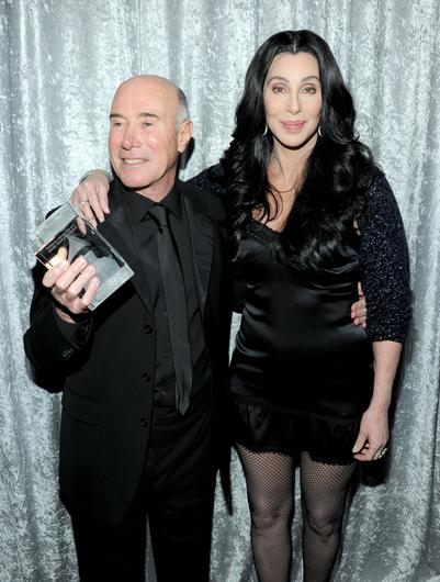 BEVERLY HILLS, CA - FEBRUARY 12: Honoree David Geffen and singer Cher attend the 2011 Pre-GRAMMY Gala and Salute To Industry Icons Honoring David Geffen at Beverly Hilton on February 12, 2011 in Beverly Hills, California.  (Photo by Larry Busacca/Getty Images)