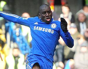 Chelsea's Demba Ba scores his teams first goal of the game during the Barclays Premier League match at Stamford Bridge, London. PRESS ASSOCIATION Photo. Picture date: Saturday March 2, 2013. See PA story SOCCER Chelsea. Photo credit should read: Adam Davy/PA Wire. RESTRICTIONS: Editorial use only. Maximum 45 images during a match. No video emulation or promotion as 'live'. No use in games, competitions, merchandise, betting or single club/player services. No use with unofficial audio, video, data, fixtures or club/league logos.