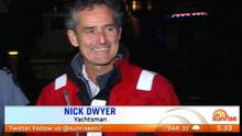 Nick Dywer speaking after he was rescued (Image: Channel 7 News)
