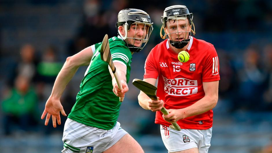 Jack O'Connor of Cork in action against Declan Hannon of Limerick during the Munster SHC semi-final at Semple Stadium in Thurles, Tipperary. Photo by Stephen McCarthy/Sportsfile