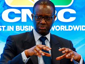 Tidjane Thiam, CEO of the Credit Suisse bank attends the World Economic Forum (WEF) annual meeting of the Forum in Davos, Switzerland January 17, 2017.  REUTERS/Ruben Sprich