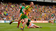 Colm McFadden celebrates scoring his goal against Mayo during the 2012 All-Ireland final. Picture credit: Stephen McCarthy / Sportsfile