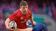 Injury forced Jonny Holland to retire shortly after playing for Munster in their 2016 PRO12 clash against Leinster. Photo: Brendan Moran / Sportsfile
