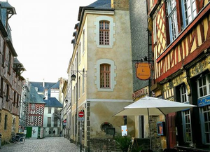 The charming cobbled streets of Rennes' Old Town. Pic: Sasha Brady