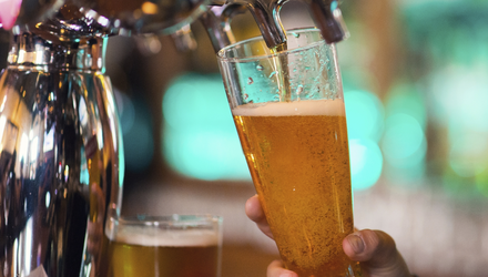 The food rule is likely to stay in place until the reopening of other pubs is discussed again at the end of this month. A so-called 'curfew' also now means it's drinking-up time at 11pm. (stock photo)