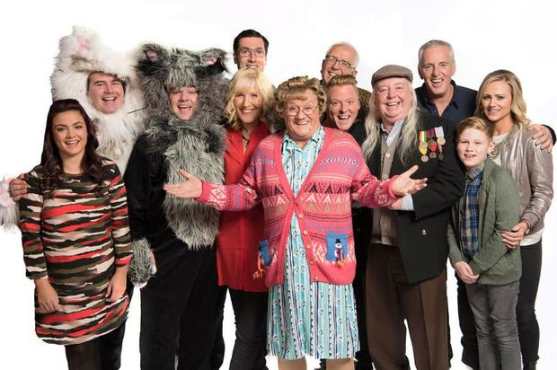 Rory with the cast of Mrs Brown's Boys